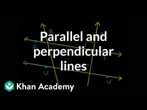 Identifying parallel and perpendicular lines | Geometry | Khan Academy