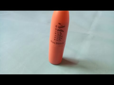 kiss-beauty-matte-lipstick-review matte-lipstick-under-rs.80 nude-shade-lipstick matte-lipstick-revi
