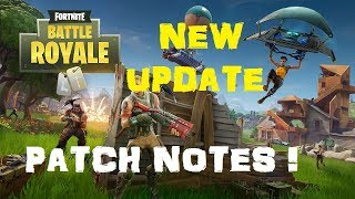 Fortnite - Battle Royale / Duos / Supply Drops / Horde Bash - Patch Notes