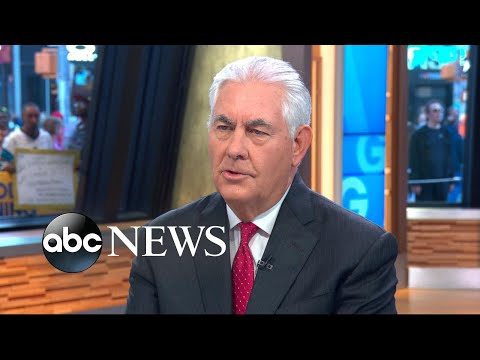 Rex Tillerson defends US response to North Korea, Russia