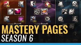 Season 6 Mastery Pages - League of Legends