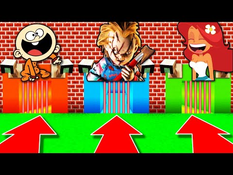 NE CHOISISSEZ PAS LA MAUVAISE PRISON MINECRAFT !! Bébé Lincoln Loud Chucky Marina !