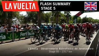 Flash Summary - Stage 5 | La Vuelta 19