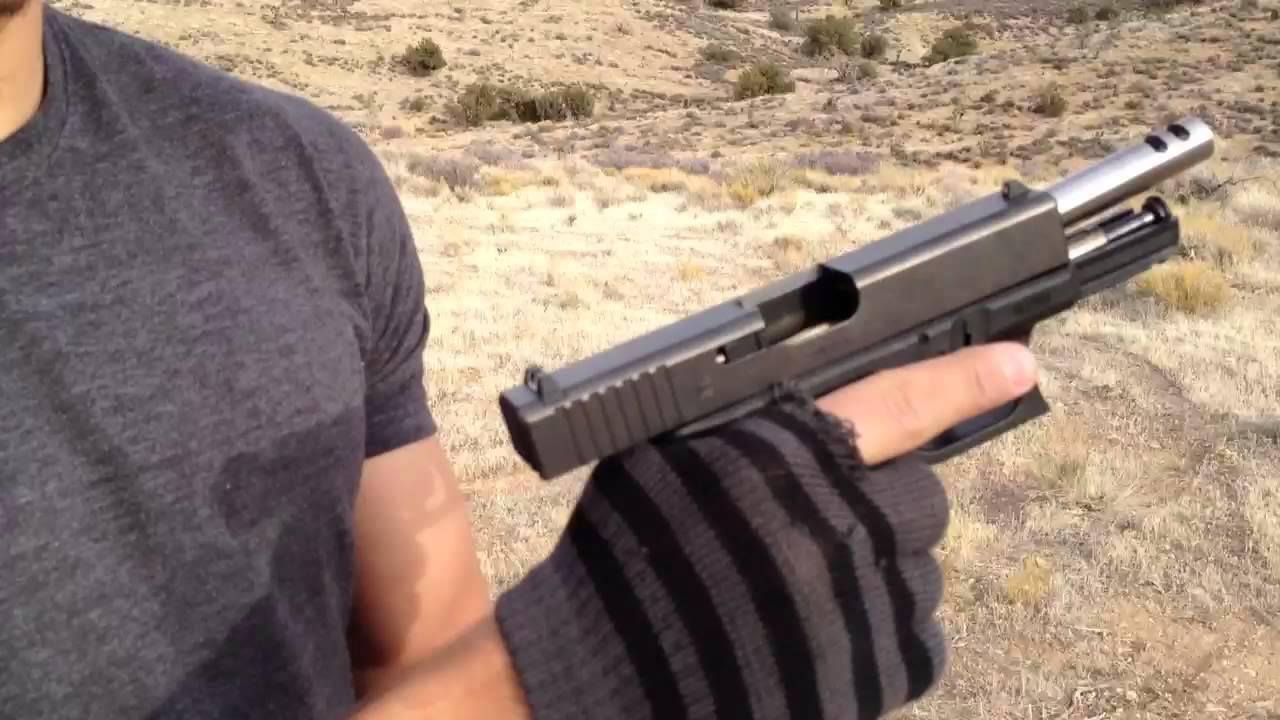 Glock 19 extend mag + ported barrel