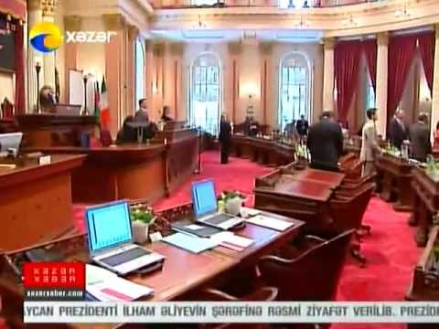 Xazar TV report on official visit of Azerbaijani Delegation to California's capital