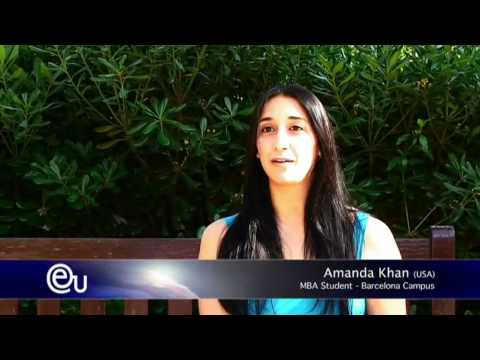 Interview MBA Student - International Business College in Barcelona - EU Business School, Spain