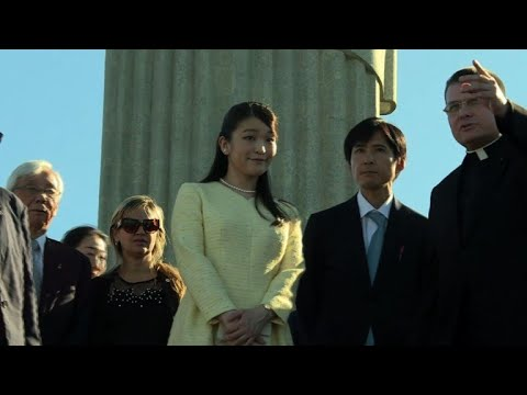 Japanese Princess Mako visits Rio's Christ the Redeemer
