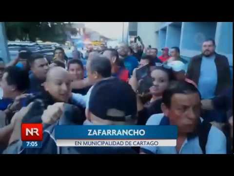 Zafarrancho en la Municipalidad de Cartago