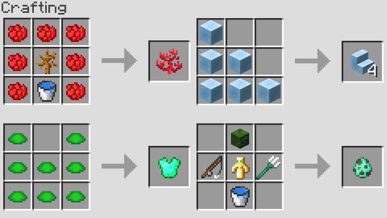 NEW Minecraft 1.13 CRAFTING RECiPES!