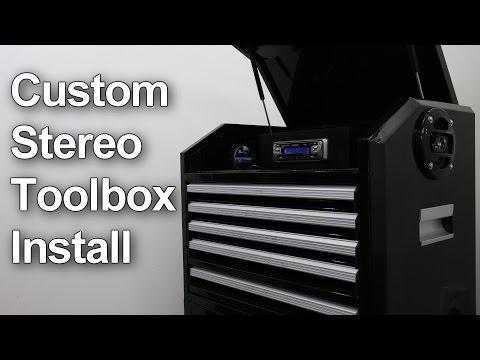 Custom Car Stereo Installation in a Tool Box