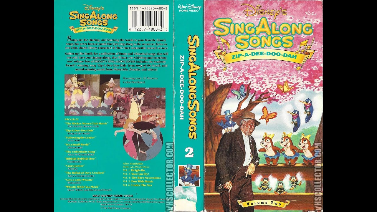 1b9fd2a73 Opening to Disney s Sing Along Songs Zip A Dee Doo Dah 1990 VHS (Version  1)