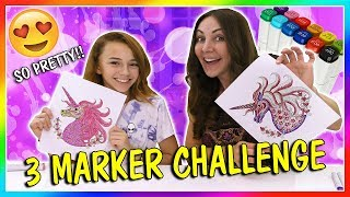 3 MARKER CHALLENGE | We Are The Davises