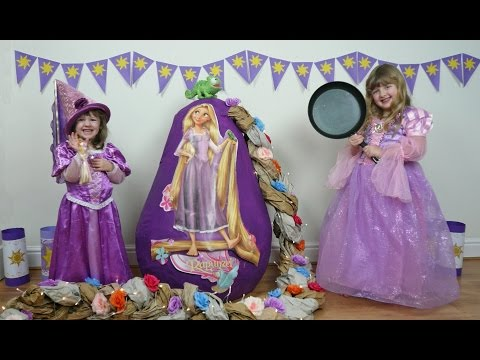 Disney Princess Rapunzel Movie Super Giant Egg Surprise Fun Toys Video The Disney Toy Collector
