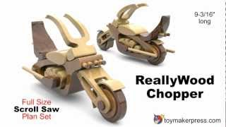 Wood Toy Plans - Hippy Chopper Motorcycle