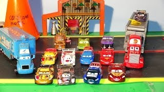 Play Doh Lightning McQueen in Pixar Cars Radiator Springs World Grand Prix new Paint Jobs by Ramone