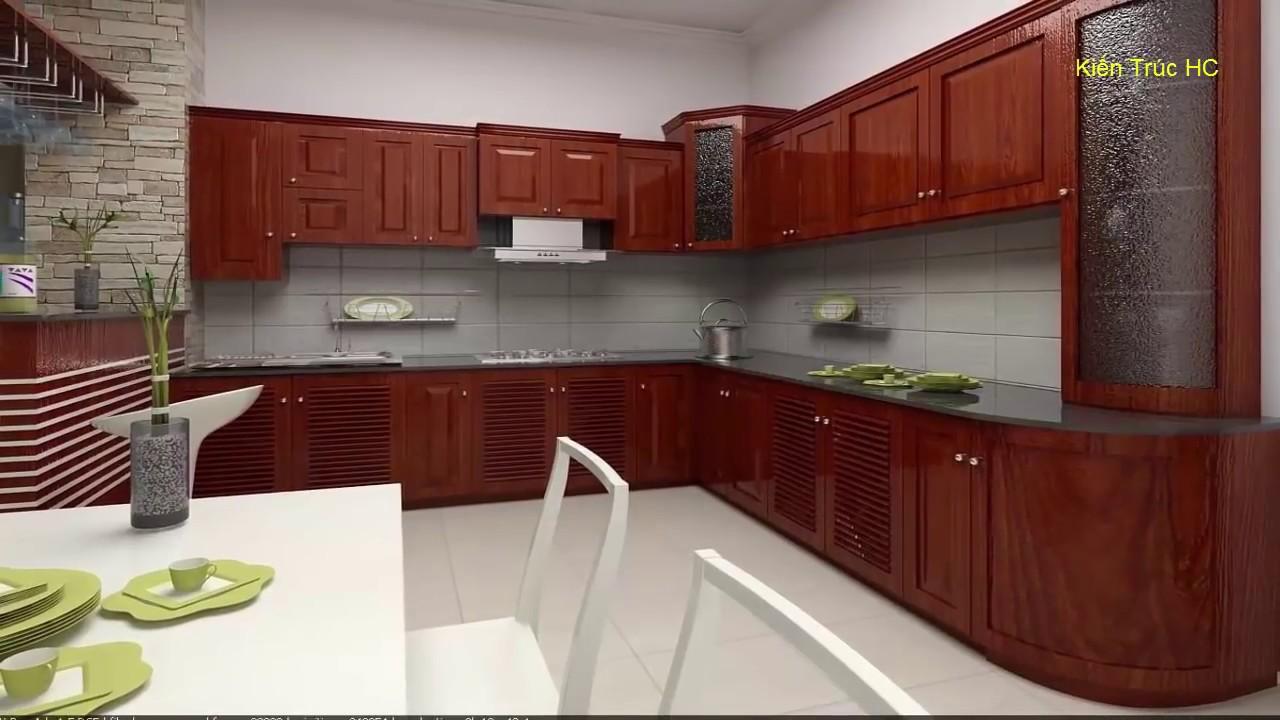 Tủ Bếp Đẹp Gỗ Sồi , Bênh , Căm Xe (NT)