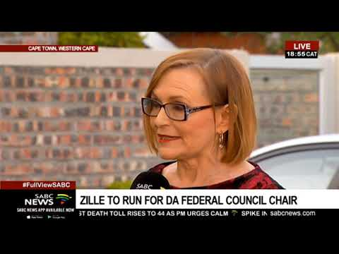 Zille shares her vision if elected DA's Federal Council chair