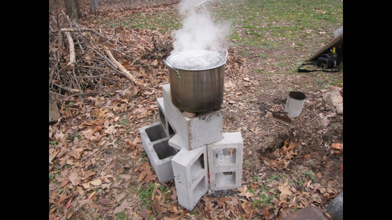 2 minute 6 block rocket stove youtube