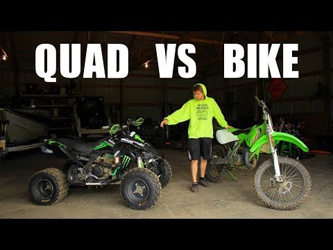 Bike Vs Quad... Whats Faster?