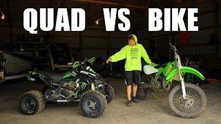 Bike Vs Quad... Whats Faster?