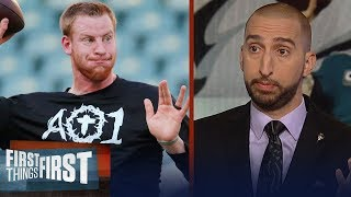 Nick Wright on how Carson Wentz's return will impact the Eagles vs. Colts | NFL | FIRST THINGS FIRST