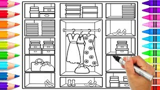 Learn How to Draw Cute Outfits Step by Step for Kids | Beautiful Wardrobe Coloring Pages