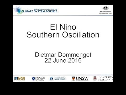 El Nino Southern Oscillation (Dietmar Dommenget)