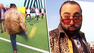 BOOM! Chabuddy G nails Volley & Crossbar Challenge 🔥 | Soccer AM PRO AM with David Prutton