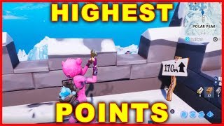 Fortnite: Highest Elevation Points Locations CHALLENGE