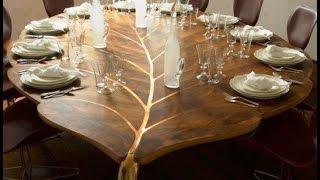 видео Обеденный стол для столовой своими руками