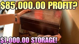 $85,000 PROFIT? In $7000 storage I bought an abandoned storage unit