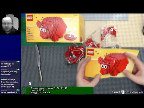 [ BUILDING STREAM ] 30.11.17 LEGO 40155 Piggy Coin Bank