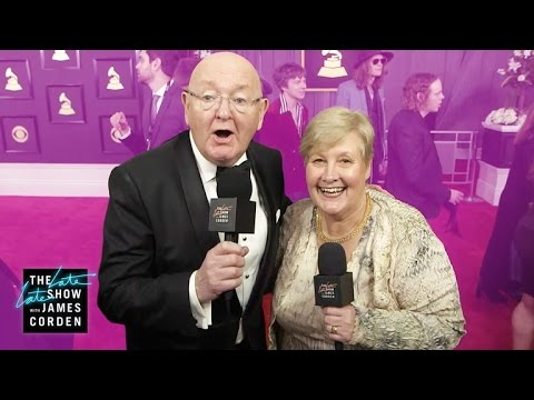 James Corden's Parents Head to the GRAMMYs
