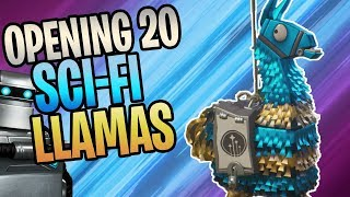 FORTNITE - Opening 20 Sci-Fi Llamas! Getting Every Sci-Fi Hero And Weapon