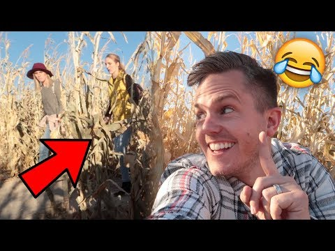 SNEAKING On My SISTER In Law! HALLOWEEN Corn Maze! 🎃