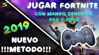 HOW TO PLAY FORTNITE WITH GENERAL CONTROLS OF PS3, XBOX ONE, PS3 AND PS4 NEW METHOD!