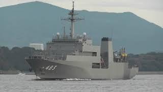 M171215C 海上自衛隊佐世保基地 敷設艦『むろと』 出港