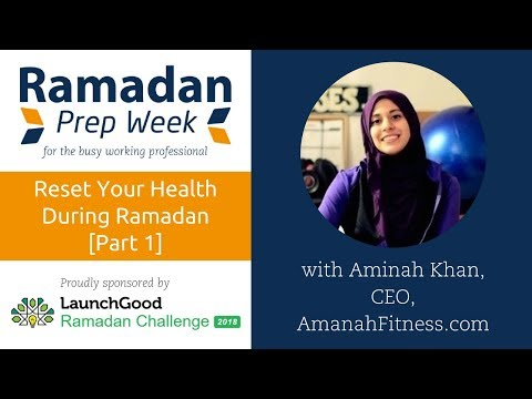Webinar: Nutrition, Fitness & Sleep in Ramadan For High Energy & Productivity - Part 1