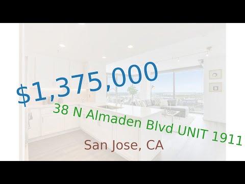 $1,375,000 San Jose home for sale on 2020-10-21 (38 N Almaden Blvd UNIT 1911, CA, 95110)