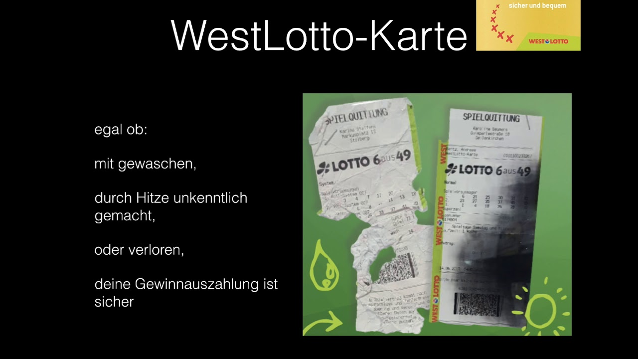 Westlotto Basis Karte