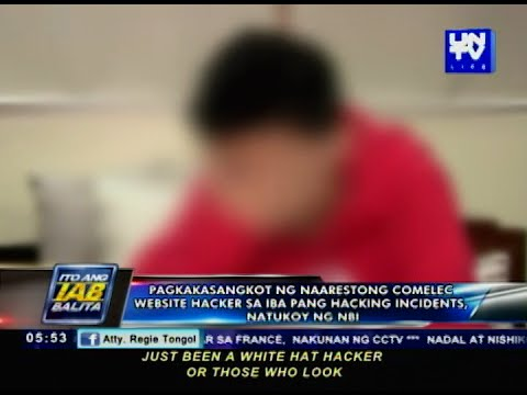 Pagkakasangkot ng COMELEC website hacker sa iba pang hacking incidents, natukoy ng NBI