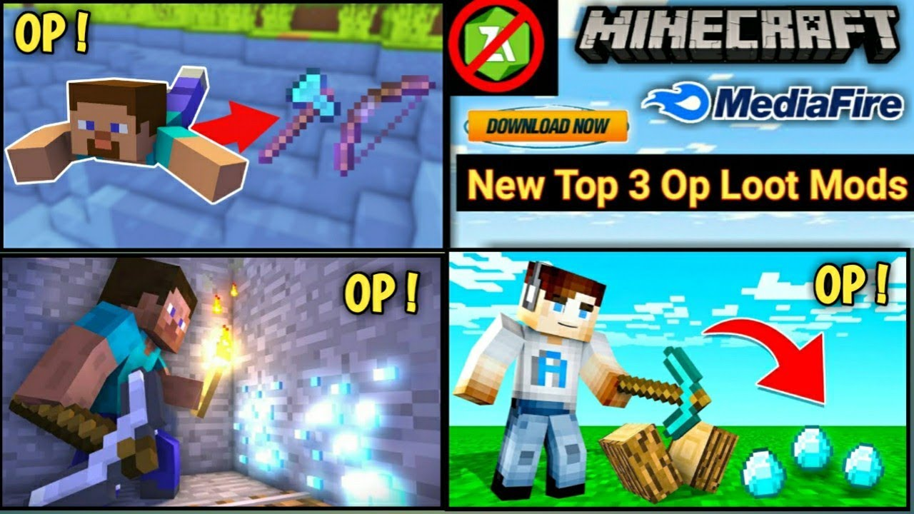 Download How To Download New Top 3 Op Loot Mods In Minecraft PE  ! MEDIAFIRE ||【UNIVERSE GAMER】 !
