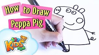 Learn how to draw Peppa Pig