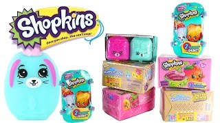 Opening Season 3, 4, 5 Shopkins and Shopkins Happy Places New and Old Surprise Toys