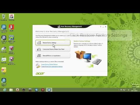 acer recovery download windows 7