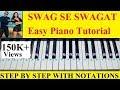 Swag Se Swagat Easy And Step By Step Piano Tutorial From Tiger Zinda Hai Salman Khan Katrina Kaif mp3