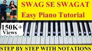 Swag Se Swagat Easy and Step By Step Piano Tutorial From Tiger Zinda Hai Salman Khan Katrina Kaif