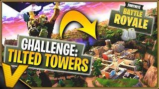 LANDER KUN I TILTET TOWERS-CHALLENGE! :: Dansk Fortnite