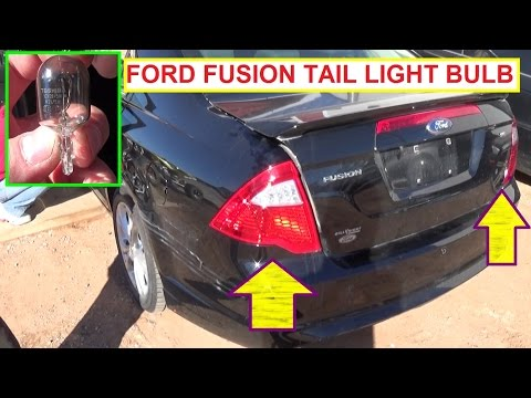 Ford Fusion Brake Light Tail Light Turn Signal Light Bulb Replacement  2009 2010 2011 2012 Fusion
