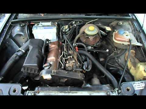 1987 Audi 80 B3 1.6D -9°C cold start 699500 km